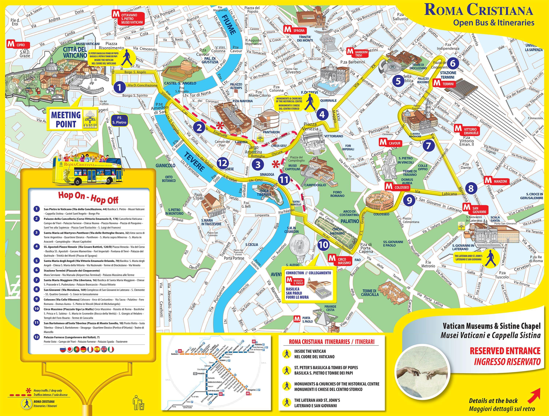 Kort Over Rom Sevaerdigheder Rom Kort Lazio Italien