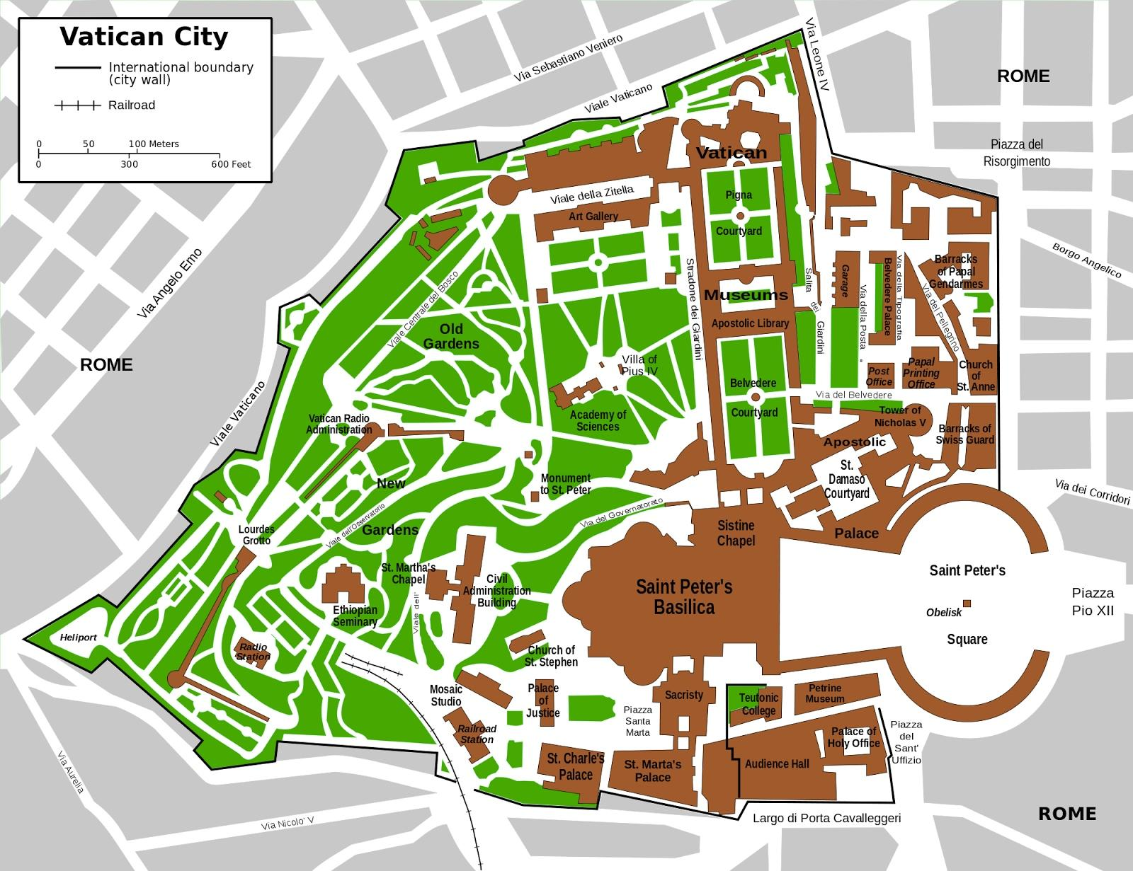 Vatikanet Turist Kort Indgang Til Vatikanet Museum Kort Lazio