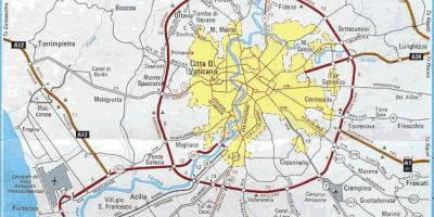 Kort Over Rom Se Kort Over Rom Med Store Og Sma Sevaerdigheder