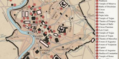 Ancient Rome city layout kort